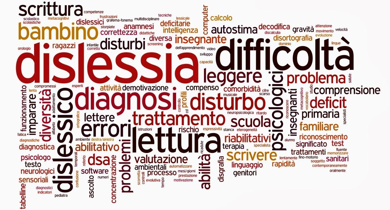 dislessia problemi apprendimento